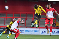 Ken Sema of Watford FC scores the second Goal and celebrates during Stevenage vs Watford, Friendly Match Football at the Lamex Stadium on 27th July 2021
