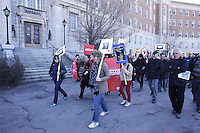 Montreal (Qc) CANADA - April 2,2012 file photo - Student demonstration on Mont-Royal street