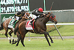 Point of Entry with John Velazquez powers by Optimizer to win the 112th running of the Grade I Woodford Reserve Manhattan Handicap for 3-year olds & up, going 1 1/4 miles, on the inner turf at Belmont Park.  Trainer Shug McGaughey  Owners Phipps Stable