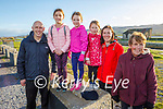 Kieran, Sadhbh, Siún, Aoibhinn, Siobhan and Marie O'Donnell from Tralee enjoying a stroll in Blennerville on Sunday.