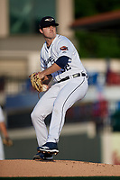 Lakeland Flying Tigers starting pitcher Casey Mize (32) during a Florida State League game against the Palm Beach Cardinals on April 17, 2019 at Publix Field at Joker Marchant Stadium in Lakeland, Florida.  Lakeland defeated Palm Beach 1-0.  (Mike Janes/Four Seam Images)