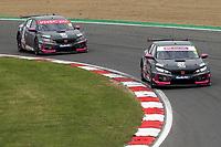 Rounds 3 of the 2021 British Touring Car Championship. #18 Senna Proctor.  BTC Racing. Honda Civic Type R.