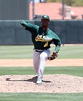 Jose Mora - Oakland Athletics 2019 extended spring training (Bill Mitchell)