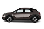 Car Driver side profile view of a 2014 Citroen C4 CACTUS Shine Edition Midnight 5 Door Mini Van 2WD Side View