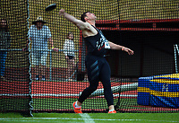 Connor Bell competes in the men's elite discus throw. 2021 Capital Classic athletics at Newtown Park in Wellington, New Zealand on Saturday, 20 February 2021. Photo: Dave Lintott / lintottphoto.co.nz