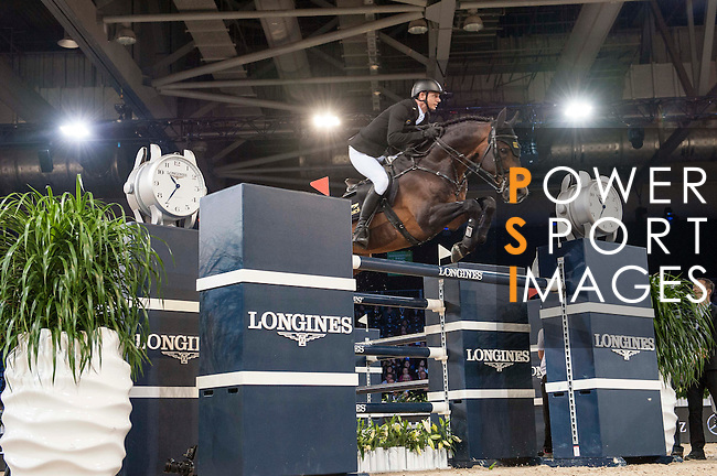 Marco Kutscher of Germany riding Van Gogh during the Hong Kong Jockey Club Trophy competition, part of the Longines Masters of Hong Kong on 10 February 2017 at the Asia World Expo in Hong Kong, China. Photo by Marcio Rodrigo Machado / Power Sport Images