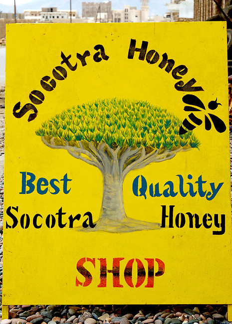 pancarte d'une boutique de vente de miel ? Hadibo