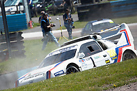 Steve Harris, Ford RS200 EVO, Retro 4WD into Paddock during the 5 Nations BRX Championship at Lydden Hill Race Circuit on 31st May 2021