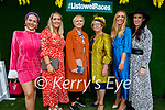 Enjoying the Ladies Day at the Listowel Races on Friday, l to r: Aideen O'Connell, Eimear O'Neill, Martina O'Connor, Mary O'Connell, Mairóna Finucane and Orla McCormack all from Listowel.