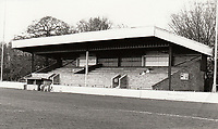 General view of Stevenage Borough FC, Broadhall Way, Stevenage, Hertfordshire, pictured on 15th October 1985