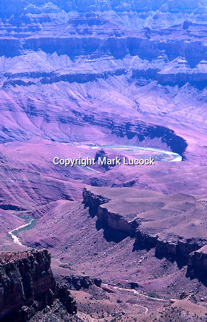 Colorado River and Grand Canyon view from Cape Royal