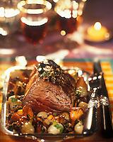 Gastronomie Générale:Filet de chevreuil aux champignons
