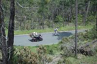 Pieter Weening (NLD/Orica GreenEDGE) descending between the front group and the peloton<br /> <br /> 2015 Giro<br /> st4: Chiavari - La Spezia (150km)