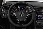 Car pictures of steering wheel view of a 2018 Volkswagen Golf-Variant Comfortline 5 Door Wagon Steering Wheel