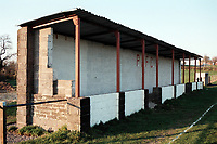 General view of Peasedown Athletic FC Football Ground, Miners Welfare Field, Peasedown St John, Somerset, pictured on 27th March 1997