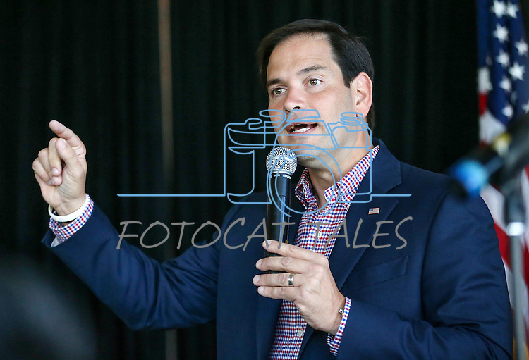 Florida Sen. Marco Rubio speaks to a group of about 150 in Carson City, Nev. on Tuesday, Sept. 1, 2015. The Republican presidential hopeful is campaigning in several Northern Nevada towns this week. (Cathleen Allison/Las Vegas Review-Journal)