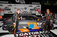 IMSA Continental Tire SportsCar Challenge<br /> BMW Endurance Challenge at Daytona<br /> Daytona Beach, Florida, USA<br /> Friday 26 January 2018<br /> TCR class winners #77 Compass Racing, Audi RS3 LMS TCR, TCR: Britt Casey Jr, Tom Long<br /> World Copyright: Michael L. Levitt<br /> LAT Images<br /> <br /> ref: Digital Image _68I4641