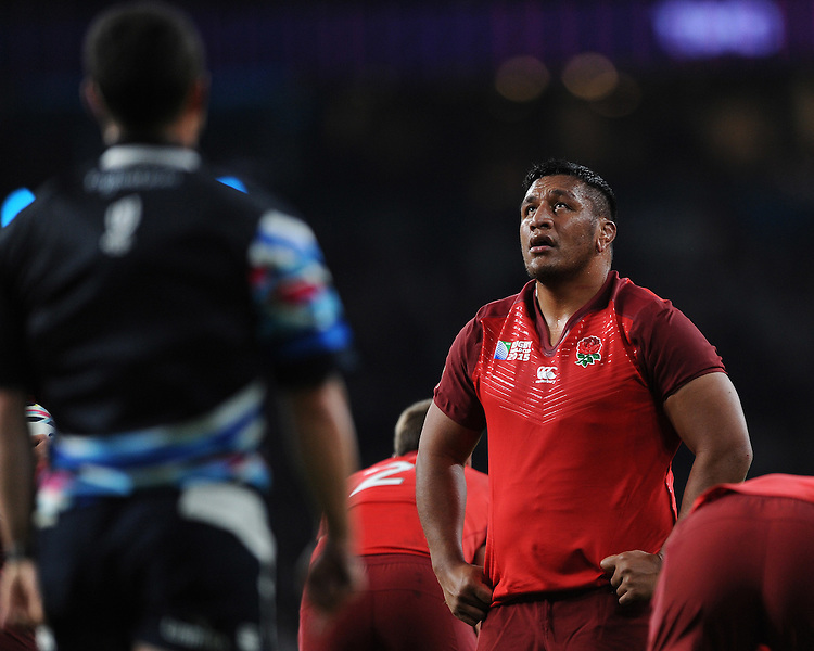 Mako Vunipola of England waits patiently to see if his try is awarded during Match 1 of the Rugby World Cup 2015 between England and Fiji - 18/09/2015 - Twickenham Stadium, London <br /> Mandatory Credit: Rob Munro/Stewart Communications