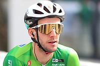 21st April 2021; Imst, Austria;  Cycling Tour des Alpes Stage 3,  Imst in Austria to Naturns/Naturno, Italy; Simon Yates Team BikeExchange who kept the tour lead