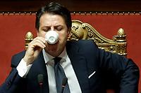 Giuseppe Conte<br /> Roma 12/09/2018. Senato. Informativa sulla Nave Diciotti<br /> Rome September 12th 2018. Senate. Speech of the Italian Premier about the Diciotti ship, carrying 177 migrants, rejected by Italy.<br /> Foto Samantha Zucchi Insidefoto