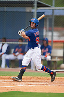 GCL Mets Zach Ashford (90) at bat during a Gulf Coast League game against the GCL Marlins on August 11, 2019 at St. Lucie Sports Complex in St. Lucie, Florida.  GCL Marlins defeated the GCL Mets 3-2 in the second game of a doubleheader.  (Mike Janes/Four Seam Images)