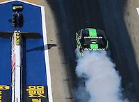 Jun 17, 2016; Bristol, TN, USA; NHRA pro stock driver Alex Laughlin during qualifying for the Thunder Valley Nationals at Bristol Dragway. Mandatory Credit: Mark J. Rebilas-USA TODAY Sports