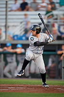Hudson Valley Renegades second baseman Jonathan Aranda (2) at bat during a game against the Auburn Doubledays on September 5, 2018 at Falcon Park in Auburn, New York.  Hudson Valley defeated Auburn 11-5.  (Mike Janes/Four Seam Images)