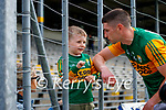 Paul Geaney, Kerry, with his son Páidí and wife Siún after the Allianz Football League Division 1 Semi-Final, between Tyrone and Kerry at Fitzgerald Stadium, Killarney, on Saturday.