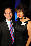 Steve Allen and LaDonna Barras at the Technip reception at the Hotel Derek Tuesday May 1,2012. (Dave Rossman Photo)