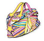 Illustration of colorful bag over white background
