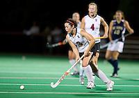 STANFORD, CA - September 3, 2010: Katie Mitchell (6) during a field hockey match against UC Davis in Stanford, California. Stanford won 3-1.