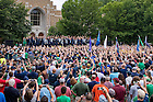 September 9, 2016; Pep Rally on South Quad before the Nevada game. (Photo by Matt Cashore/University of Notre Dame)