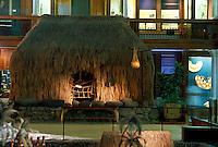 Grass hale on display at Bishop Museum, Honolulu