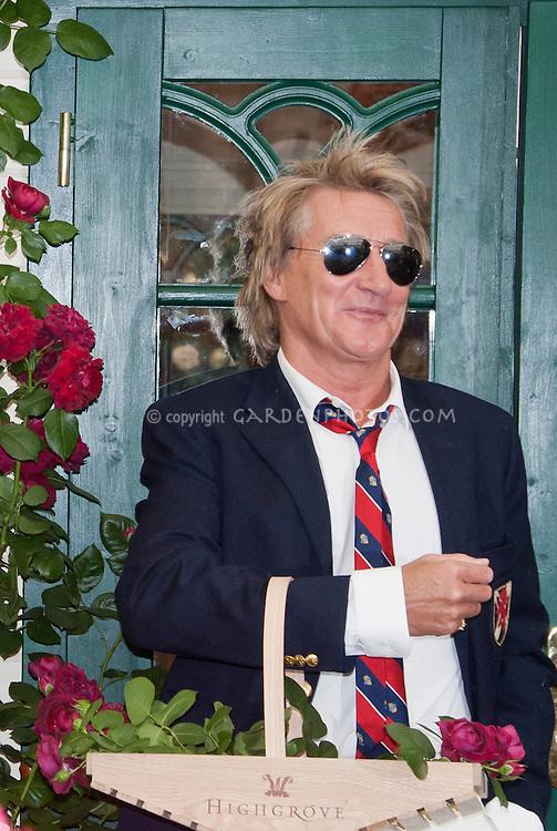 Rod Stewart, 2009 Chelsea Flower Show, at Highgrove Roses, celebrity promoting new flowers