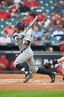 Jayson Gonzalez (99) of the Vanderbilt Commodores at bat against the Louisiana Ragin' Cajuns in game five of the 2018 Shriners Hospitals for Children College Classic at Minute Maid Park on March 3, 2018 in Houston, Texas.  The Ragin' Cajuns defeated the Commodores 3-0.  (Brian Westerholt/Four Seam Images)