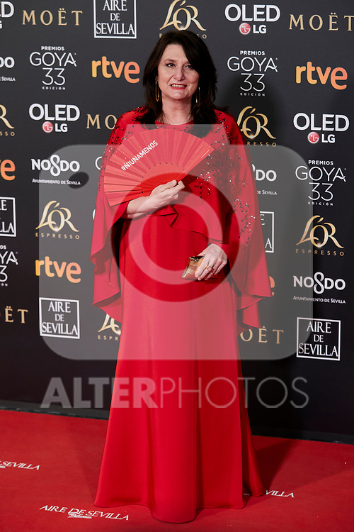 Adelfa Calvo attends to 33rd Goya Awards at Fibes - Conference and Exhibition  in Seville, Spain. February 02, 2019. (ALTERPHOTOS/A. Perez Meca)