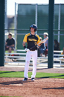 Tyler Wade (12) of Midland High School in Midland, Texas during the Baseball Factory All-America Pre-Season Tournament, powered by Under Armour, on January 13, 2018 at Sloan Park Complex in Mesa, Arizona.  (Zachary Lucy/Four Seam Images)