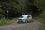 14th September 2012 - Devils Bridge - Mid Wales : WRC Wales Rally GB SS6 Myherin stage : Paulo Nobre (BRA) and co driver Edu Paula (BRA) in their MINI John Cooper Works.