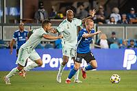 SAN JOSE, CA - SEPTEMBER 4: Jackson Yueill #14 of the San Jose Earthquakes dribbles the ball during a game between Colorado Rapids and San Jose Earthquakes at PayPal Park on September 4, 2021 in San Jose, California.