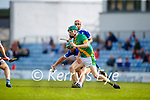 Kevin Orpen, Saint Brendan's, in action against Daire Nolan, Kilmoyley, during the County Senior hurling Final between Kilmoyley and Saint Brendan's at Austin Stack park on Sunday.