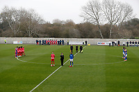 8th November 2020; SkyEx Community Stadium, London, England; Football Association Cup, Hayes and Yeading United versus Carlisle United; Both Hayes and Yeading United and Carlisle United players stand for a two minutes silence