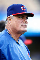 Chicago Cubs Manager Lou Piniella during batting practice before a game from the 2007 season at Dodger Stadium in Los Angeles, California. (Larry Goren/Four Seam Images)