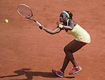Sloane Stephens, (USA) defeats Ekaterina Makarova (RUS) 6-3, 6-4 at  Roland Garros being played at Stade Roland Garros in Paris, France on May 31, 2014