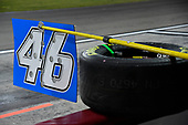 #46: Riley Herbst, Kyle Busch Motorsports, Toyota Tundra Advance Auto Parts pit board