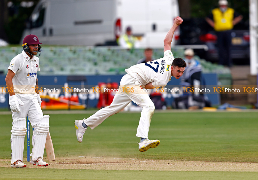 Nathan Gilchrist bowls for Kent during Kent CCC vs Northamptonshire CCC, LV Insurance County Championship Group 3 Cricket at The Spitfire Ground on 6th June 2021
