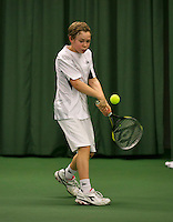 Rotterdam, The Netherlands, 15.03.2014. NOJK 14 and 18 years ,National Indoor Juniors Championships of 2014, Lodewijk Weststrate (NED)<br /> Photo:Tennisimages/Henk Koster
