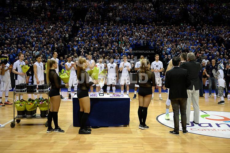 GRONINGEN - Basketbal, Donar - Landstede, Martiniplaza, NBB Bekerfinale, seizoen 2016-2017,  26-03-2017,  prijsuitrteiking