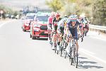The breakaway featuring Edward Planckaert (BEL) Alpecin-Fenix, Jonathan Lastra (ESP) Caja Rural-Seguros RGA, Magnus Cort (DEN) EF Education-Nippo, Joan Bou (ESP) Euskaltel-Euskadi and Harm Vanhoucke (BEL) Lotto Soudal during Stage 11 of La Vuelta d'Espana 2021, running 133.6km from Antequera to Valdepeñas de Jaén, Spain. 25th August 2021.     <br /> Picture: Unipublic/Charly Lopez | Cyclefile<br /> <br /> All photos usage must carry mandatory copyright credit (© Cyclefile | Charly Lopez/Unipublic)