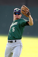Jamestown Jammers outfielder Ryan McIntyre #5 during a game against the Batavia Muckdogs at Dwyer Stadium on June 27, 2011 in Batavia, New York.  Batavia defeated Jamestown 4-3.  (Mike Janes/Four Seam Images)