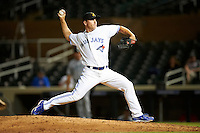 Salt River Rafters pitcher Sam Dyson #37, of the Toronto Blue Jays organization, during an Arizona Fall League game against the Peoria Javelinas at the Salt River Fields at Talking Stick on October 18, 2012 in Scottsdale, Arizona.  Peoria defeated Salt River 3-1.  (Mike Janes/Four Seam Images via AP Images)